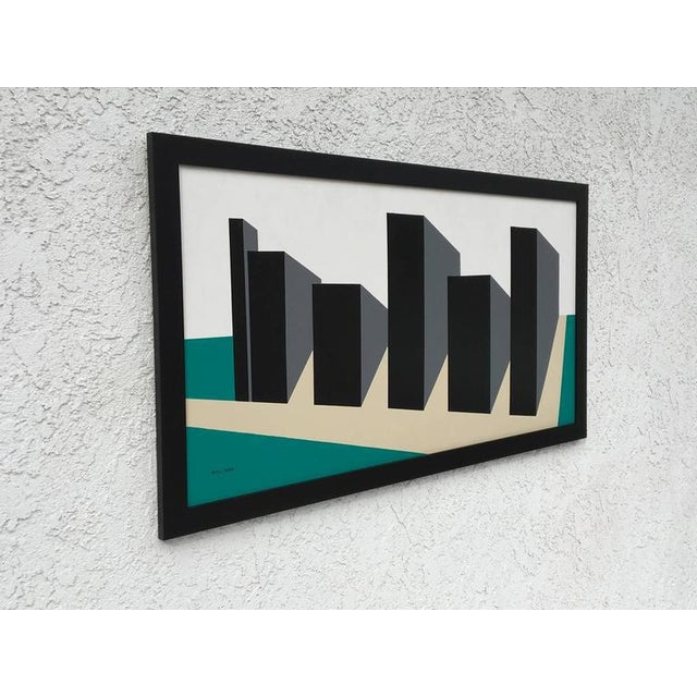 Mid-Century Modern Original Enamel on Masonite Abstract Painting by Rick Orr For Sale - Image 3 of 6