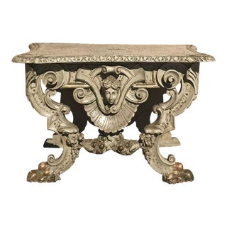 Italian Painted Carved Low Console, 1860s For Sale