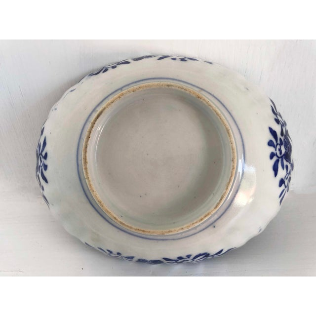 Antique Japanese Imari Oval Scalloped Bowl For Sale - Image 10 of 12