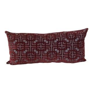 Custom Cut Velvet Pillow