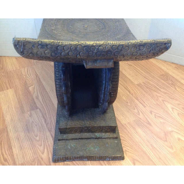 Early 20th Century Ashanti Chief's Bench For Sale In West Palm - Image 6 of 11