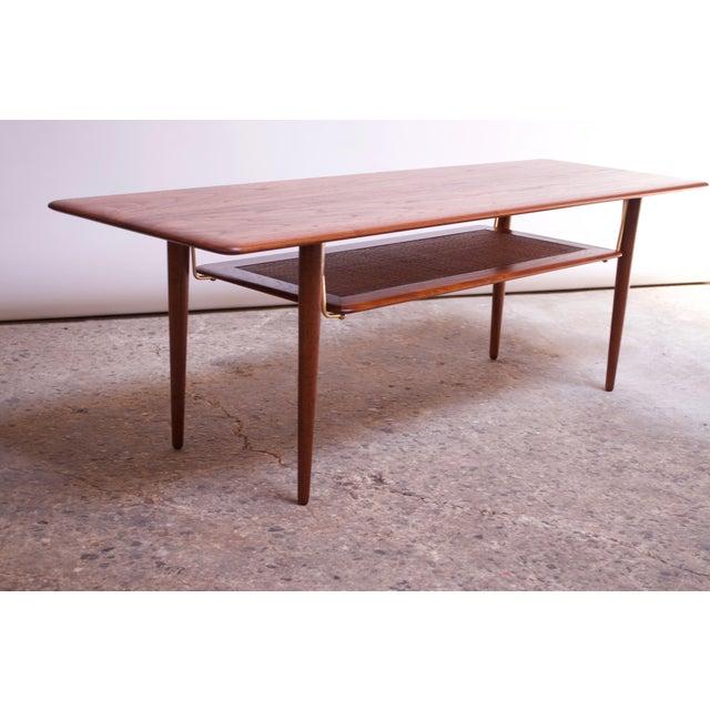 Peter Hvidt & Orla Mølgaard Nielsen Teak and Cane Coffee Table For Sale - Image 13 of 13
