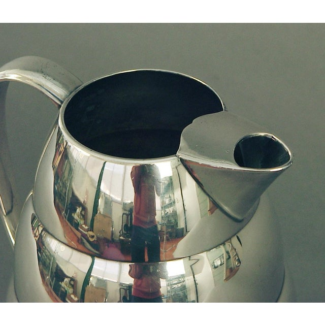 Art Deco 1920s Art Deco Silver Plate Water Pitcher by the International Silver Co, of Meriden Ct For Sale - Image 3 of 7