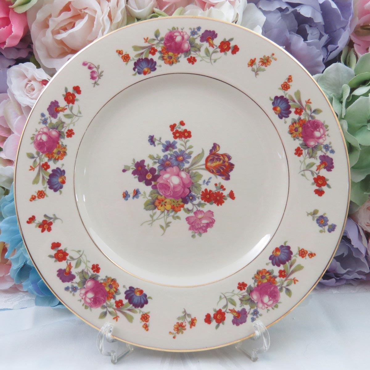 Vintage Mismatched Fine China Dinner Plates - Set of 4 - Image 4 of 9 & Vintage Mismatched Fine China Dinner Plates - Set of 4 | Chairish