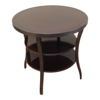 Modern Baker Barbara Barry Round Tiered End Table For Sale
