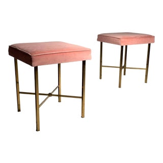 Mid-Century Modern Stools in the Manner of Paul McCobb - A Pair For Sale