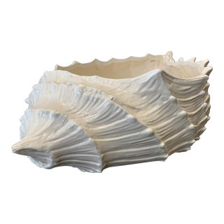 White Shell Shaped Planter For Sale