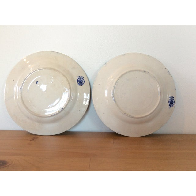 Antique Willow Adderley Plates - A Pair - Image 7 of 10