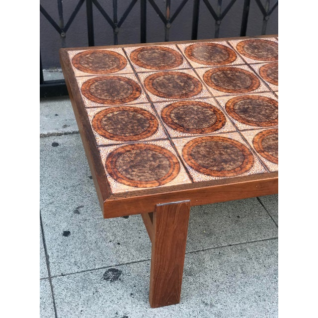 Danish Mid Century Tile-Top Coffee Table - Image 5 of 13