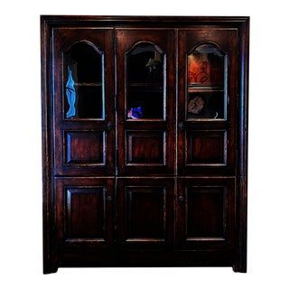 Ralph Lauren San Luca Display China Cabinet Hutch For Sale