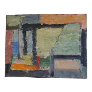 Mid Century Abstract Painting by Jean Gunther