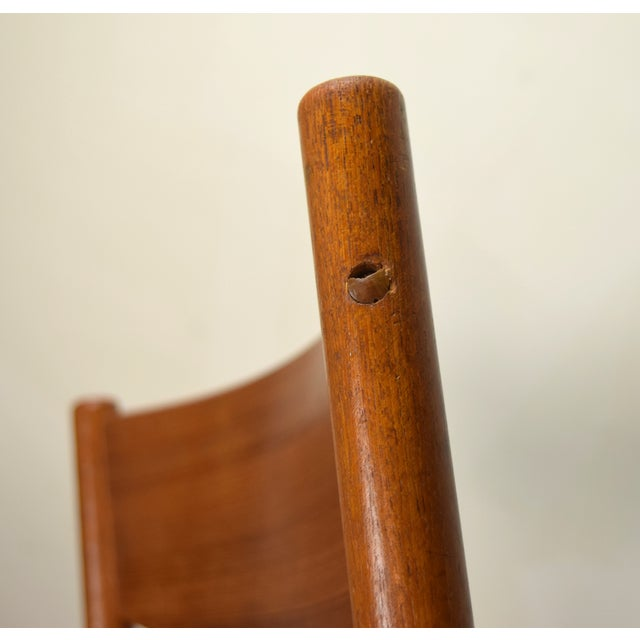 Teak Vintage Poul Volther for Frem Rojle Cord Dining Chairs - A Pair For Sale - Image 7 of 9