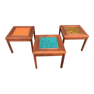 Mid Century Modern Set of Three Tables For Sale