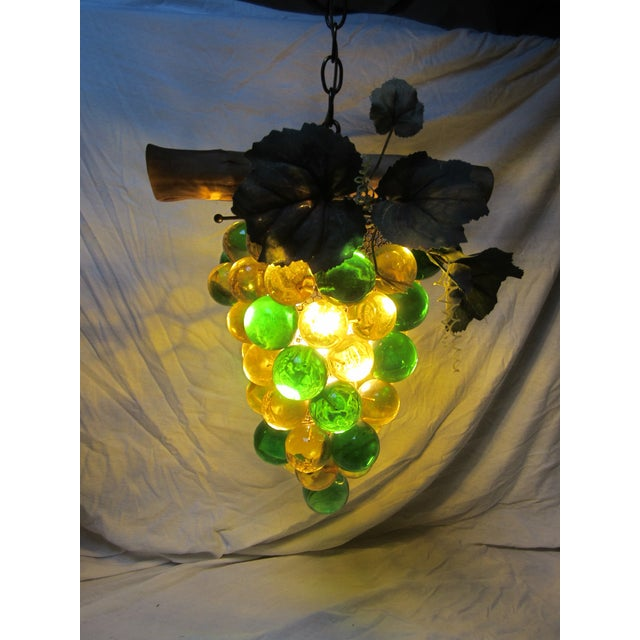 Vintage Grape Cluster Acrylic Pendant Light For Sale - Image 11 of 12