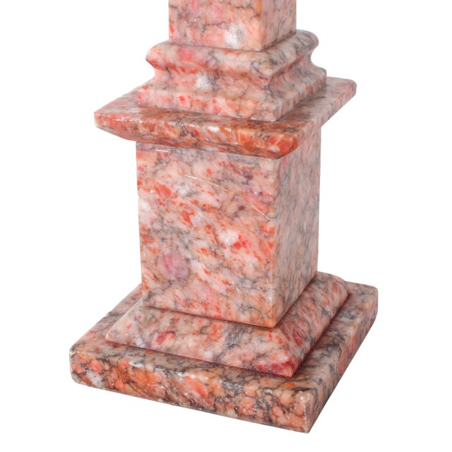 Marble Column Lamps - a Pair For Sale - Image 4 of 11