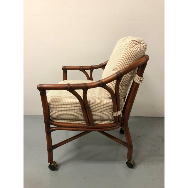 Ficks Reed Rattan Bent Bamboo Leather Bound Dining Set - 5 Pieces For Sale In Naples, FL - Image 6 of 9