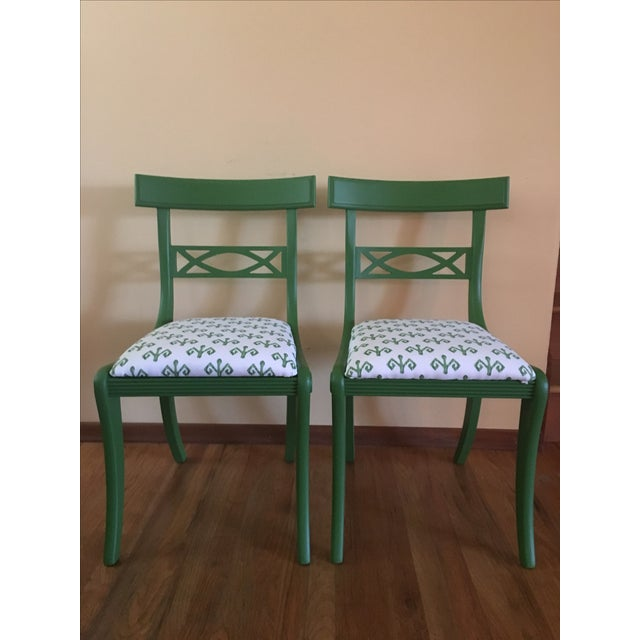 1920's Solid Mahogany Chairs - A Pair - Image 2 of 3