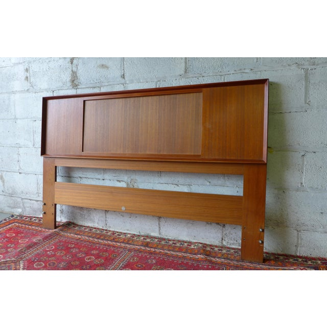 Falster Mid-Century Queen / Full Size Teak Headboard For Sale - Image 5 of 5