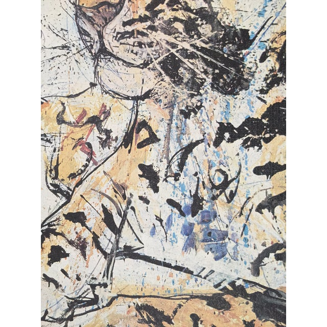 1970s Vintage Leopard Lithograph on Canvas - Image 9 of 10