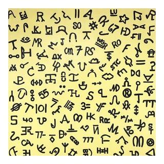 """John O'Hara. Brands on Yellow. 69x69"""""""
