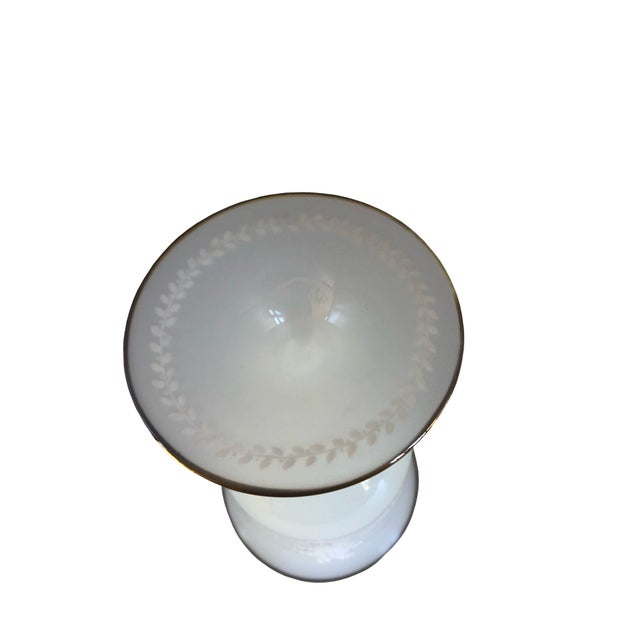 19th Century Clam Broth Opaline Glass Goblet For Sale - Image 5 of 6