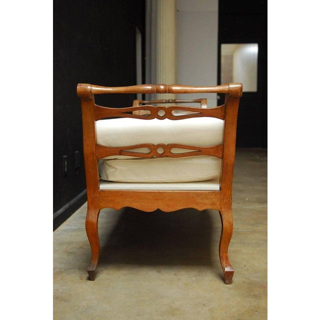 19th Century French Provincial Canvas Upholstered Daybed - Image 2 of 11