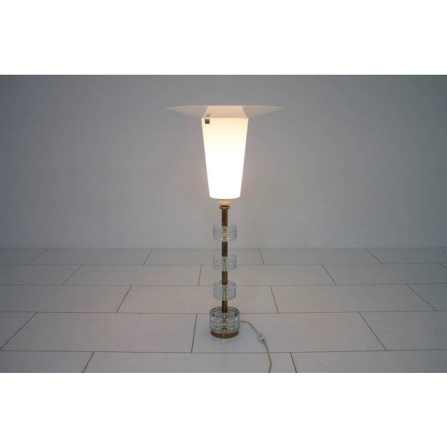 Metal Brass and Glass Table Lamp by Luxus Sweden, Circa 1960s For Sale - Image 7 of 9