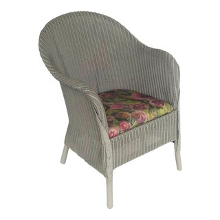 English Wicker Garden or Lounge Chair by Lloyd Loom For Sale