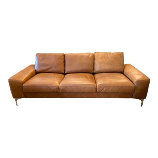 Industry West Furniture Fable Leather Sofa For Sale