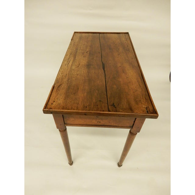 18th C. French Provincial Walnut Side Table For Sale - Image 4 of 9