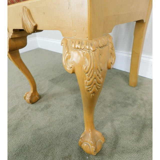 Lexington Solid Pine Chippendale Style Ball & Claw Carved Pair Side Chairs For Sale - Image 11 of 13