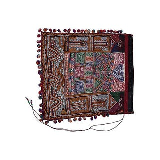 Vintage Indian Embroidered Katchi Textile For Sale
