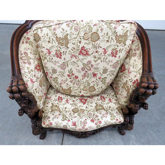 Carved Victorian Bergere For Sale In Philadelphia - Image 6 of 11