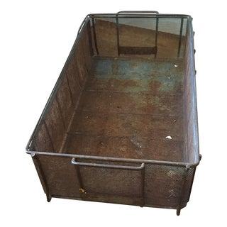 Vintage Metal Crate Box