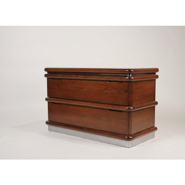 Beautiful pair of nightstands designed by Jay Spectre and produced by century furniture in the late 1970s. Excellent...