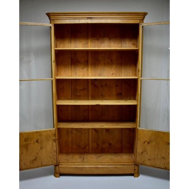 French Pine Glazed Bookcase For Sale - Image 9 of 13
