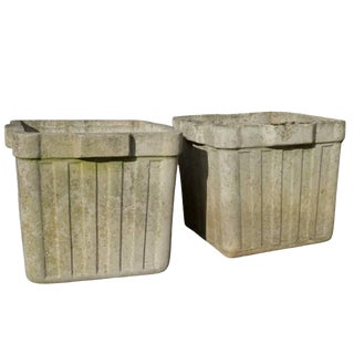 Vintage French Cement Planters, Circa 1960 (12 Available) For Sale