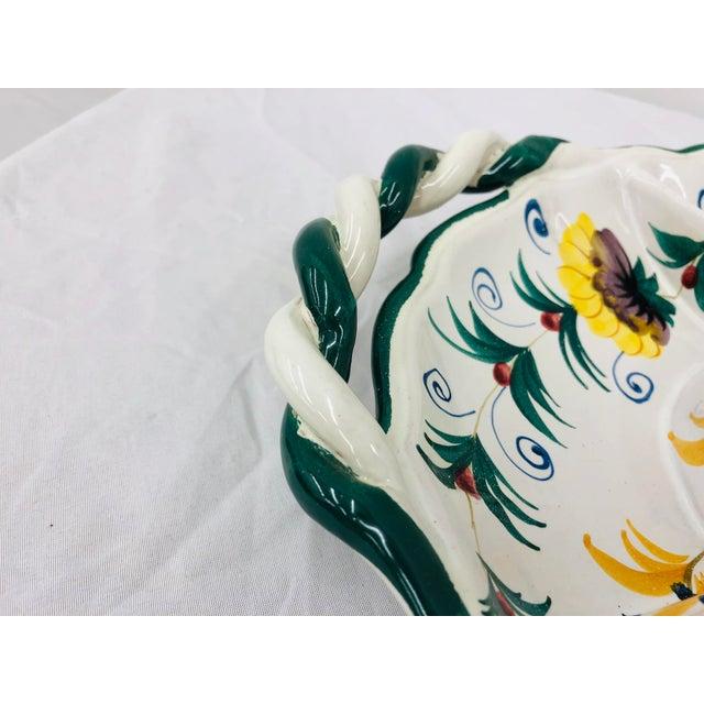 Ceramic Vintage Hand Crafted Italian Ceramic Serving Platter For Sale - Image 7 of 13