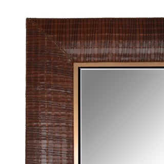 Laura Weave Leather Mirror Preview
