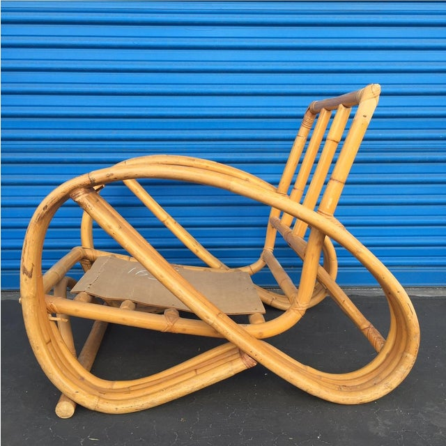 Heywood Wakefield Curved Arm Rattan Lounge Chair - Image 5 of 5