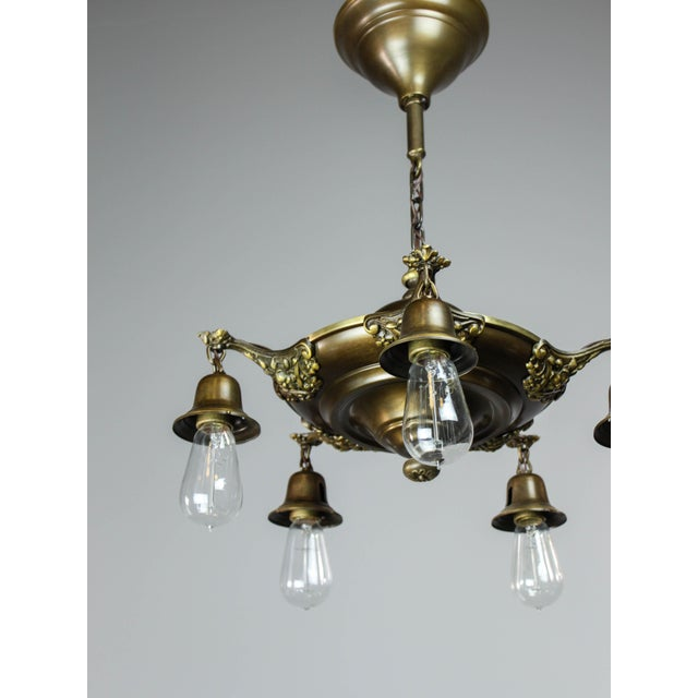 Colonial Revival Light Fixture (5-Light) For Sale - Image 4 of 10