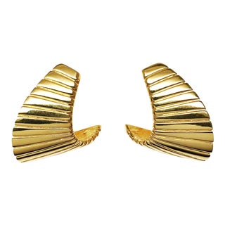 Gold Plated Modernist Wings by Napier For Sale