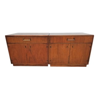 Vintage Maurice Villency Mid Century Danish Modern Solid Walnut Nightstands - a Pair For Sale
