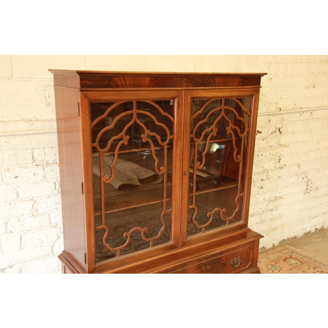 Antique French Chippendale Mahogany Cabinet For Sale - Image 4 of 7