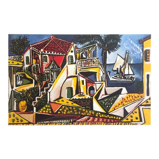 """Pablo Picasso Offset Lithograph Print Poster """" Paysage Mediterraneen """" 1952 For Sale"""
