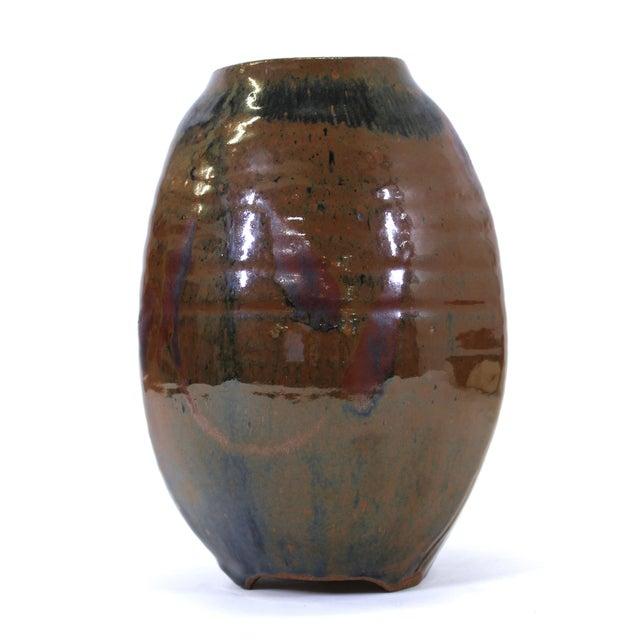Japanese Mid-Century Modern Studio Pottery Vase For Sale - Image 9 of 9