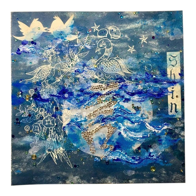 Jiha Moon, Letter Shin Blue, 2017 For Sale