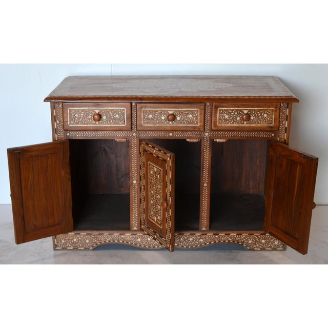 Afghan Anglo Indian Bone Inlay Cabinet For Sale - Image 3 of 6