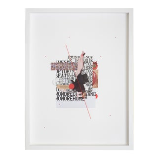 """""""Poppy"""" Contemporary Mixed-Media Collage by Emily Hoerdemann, Framed For Sale"""