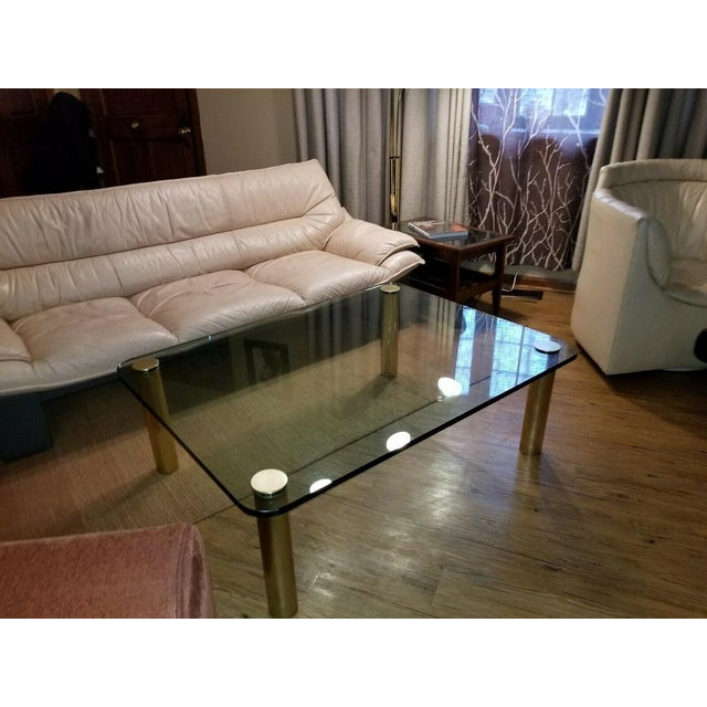 Brass and Glass Coffee Table by the Pace Collection Leon Rosen For Sale - Image 13 of 13